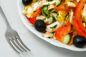 sund mad på tallerken